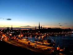 Vista da cidade de #Estocolmo.