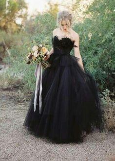 Black Wedding Dresses, Bridal Dresses, Wedding Gowns, Wedding Hair, Gothic Wedding, Dream Wedding, Samhain, Cute Wedding Ideas, Wedding Inspiration