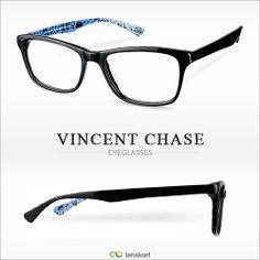 6b99929df0 Buy Vincent Chase s black blue eyeglasses with funky graffiti print inside  make a
