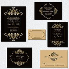Timeless and Elegant Wedding Invitation Suite White by ALookOfLove
