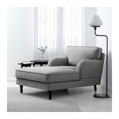 Stocksund chaise nolhaga dark gray black ikea 499 for Arild chaise longue