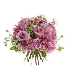 Bouquet de flores mix lilás: Bouquet de flores naturais e delicadas,com didisco lilás e alstroemérias e rosas lilás