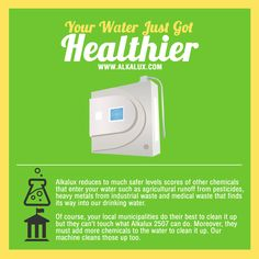 Your Water Just Got Healthier Visit our official website: http://www.alkalux.com