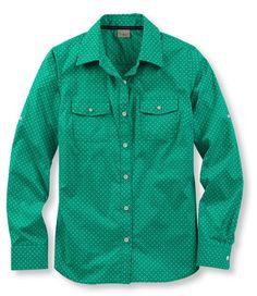 Women's Classic Camp Shirt, Polka Dot: Button-Front | Free Shipping at L.L.Bean $20