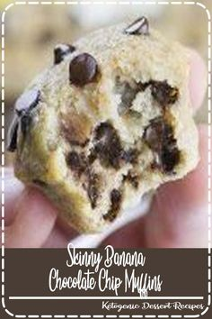 🍌Skinny Chocolate Chip Banana Muffins🍌 is quick and easy recipe for delici. by Chocolate Desserts Muffin Recipes, Breakfast Recipes, Dessert Recipes, Brunch Recipes, Muffins Sains, Banana Chocolate Chip Muffins, Chocolate Chips, Big Chocolate, Banana Bread