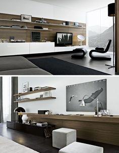 contemporary tv wall unitpoliform | tv consoles | pinterest