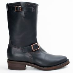 The Bootery/Wesco® - Boss Engineer - Black Domain Mens Redwing Boots, Red Wing Boots, Engineer Boots, Tall Boots, Black Tie, Boss, Engineering, Heels, Leather