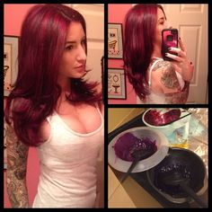 Special thanks to for doing this She did a full head of highlights and paneled violet, magenta, and wild orchid to come up with this. Looks so beautiful in person! Red Hair Color, Hair Colors, Pravana Hair Color, Extreme Hair, Gorgeous Hair, Beautiful, Hair Creations, Wild Orchid, Awesome Hair