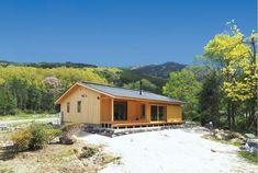 山に建つ平屋の家   株式会社柴木材店