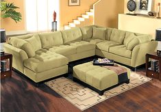 Shop for a Cindy Crawford Home  Metropolis Wasabi Left  4 Pc Sectional Living Room at Rooms To Go. Find Living Room Sets that will look great in your home and complement the rest of your furniture.
