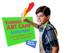 Art Summer Camp at Young at Art!  www.youngatartmuseum.org