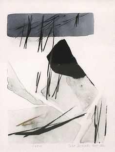 "Toko Shinoda : "" snow"", lithograph ( printmaking) Azuma Gallery   Japanese Fine Art, Seattle"