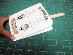 Diy Paddle Fan Wedding Programs
