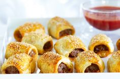 Chilli lamb mini sausage rolls - make these on the weekend with the kids.  Make sure you can keep some for their lunch boxes.  Take short cuts if you need to by buying gourmet sausages and wrapping in  frozen puffed pastry sheets or mix up your own special recipe with minced lamb.  Don't forget a little container of tomato sauce.
