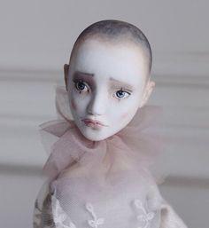 Art Doll, Pierrot Doll, OOAK Doll, Boidoir Doll