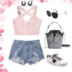 Cute summer outfit  #summertrip #summer #cute #girlboss #btslook #mylittleprettymind #outfit #pas…