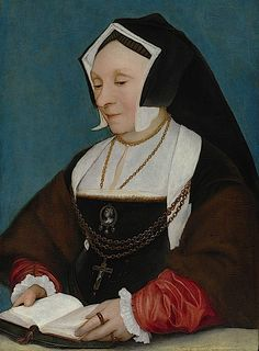 ca. 1530 Lady Alice More by follower of Hans Holbein   Nice close-up of the Gable Headdress.