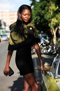"""""""Beautiful, Sophisticated, African"""": Thabo Makhetha - read the interview with the inspiring designer here African Print Dresses, African Print Fashion, African Dress, Fashion Prints, African Outfits, African Clothes, African Design, African Style, Blanket Jacket"""