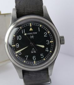 "Hamilton 60's military watch ""General Service"" Tropicalized."