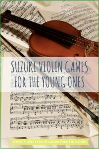 "Suzuki violin practice ideas-young Suzuki students need lots of repetition. Often parents and teachers need to get creative in finding different ""tricks"" to make a child repeat the same concept many times. This game is very popular and it never disappoints! There is something about it that young children simply love!"