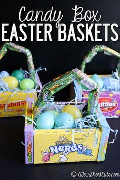 Diy edible easter egg basket easter egg basket egg basket and diy candy box easter baskets negle Gallery