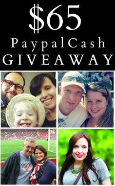 $65 Paypal Cash Giveaway! #giveaways #blogging