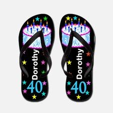 40th Festive Flip Flops 40 years old never looked so good with this stylish 40th birthday flip flops. http://www.cafepress.com/jlporiginals/10151910 #40yearsold #Happy40thbirthday #40thbirthdaygift #40thflipflops #Personalized40th #Happy40thflipflops