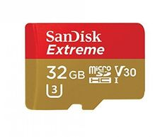 SanDisk Extreme 32GB microSDHC UHS I Card with Adapter SDSQXVF 032G GN6MA... #NA