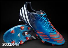 adidas Predator LZ Football Boots - Blue/White/Infrared - http://www.soccerbible.com/news/football-boots/archive/2012/04/30/adidas-predator-lz-football-boots-blue-white-infrared.aspx