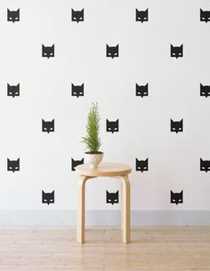 Mini Batman Mask  Removable Wall Decal & by LittleStickerBoy