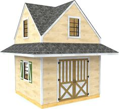 The Vivian plan is a two level, full sized garden shed that provides lots of storage space.