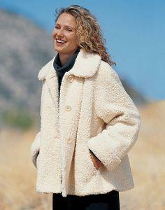 Faux lambs wool coat @ Orvis