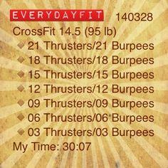 #EveryDayFit 140328 #CrossFit 14.5 #wod #workout