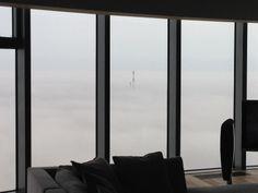 Kominy elektrociepłowni we mgle #Wrocław#Sky#Tower