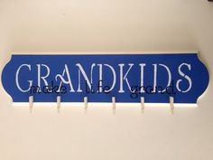 Personalized Grandkids Picture Display Sign with Clips on Etsy, $34.00