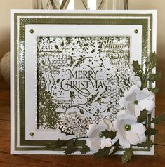 Created with the Winter Foliage Square Collage Stamp. Available from www.honeypotcrafts.co.uk