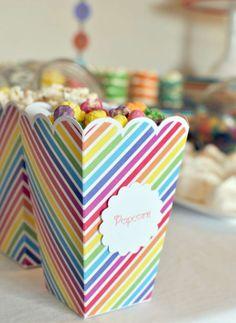 Katena T's Birthday / Rainbow - Photo Gallery at Catch My Party Rainbow Birthday Party, Birthday Parties, Mickey Mouse Bday, Creative Snacks, Cute Snacks, Rainbow Photo, Party Ideas, Food, Anniversary Parties