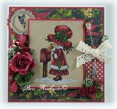 OOAK handmadeSarah Kay Christmas card by Bev Rochester