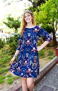Φόρεμα 60's εμπριμέ