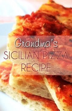 The Arangio family recipe for Sicilian style pizza that has been passed down for the past 3 generations (at least!).