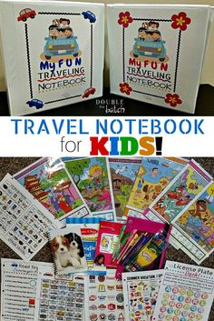 DIY Road Trip Binder for kids! Free printables. My kids are gonna love these on our trip!