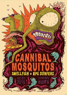 A poster for Cannibal Mosquitos | flitzi34 | Flickr