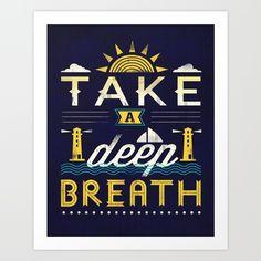 Take A Deep Breath Art Print by Dan Elijah G. Fajardo | Society6