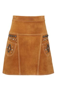 Stud A Line Suede Skirt by COACH 1941 for Preorder on Moda Operandi