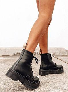 Dr. Martens, Dr Martens Stiefel, Dr Martens Boots, Dr Martens Jadon, Doc Martens Black, Dr Martens Outfit, Wide Calf Boots, Knee High Boots, Tall Boots