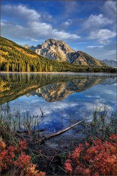 Reflection of Mt Moran, Grand Teton National Park, Wyoming