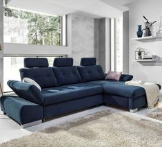 The Corner sofa bed has offers a modern and stylish design, mixing versatility and a practicality that will look fantastic in any home. With layers of genorous padding, flexible armrest, and individually adjustable headrests Modular Sofa Bed, Modular Corner Sofa, Decor Interior Design, Interior Styling, Furniture Design, Living Room Furniture, Living Room Decor, Corner Sofa Living Room, Living Room Designs