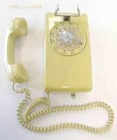 Rotary phone & the extra long cord that wrapped around everything!