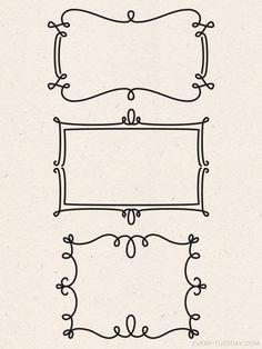 Freebie: 3 Vector Decorative Frames
