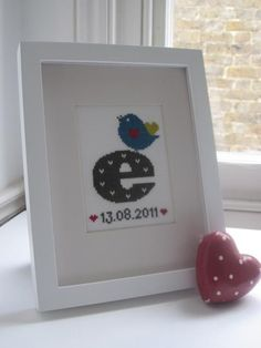 Ellie bird Cross stitch